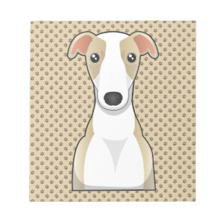 Whippet Cartoon Notepad