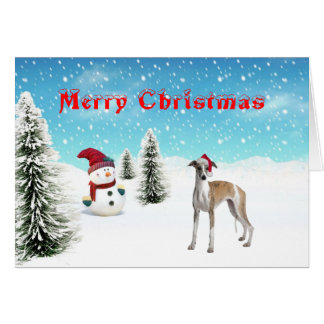Whippet Christmas Card