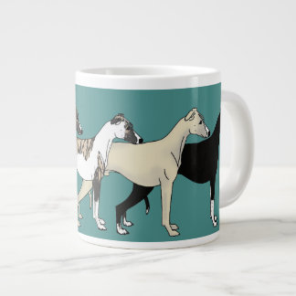 Whippet Color collection Large Coffee Mug