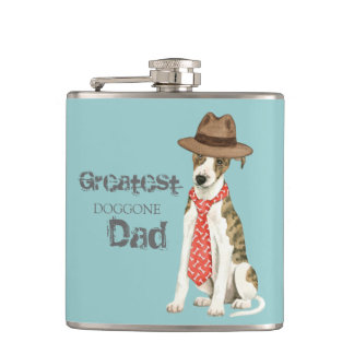 Whippet Dad Hip Flask