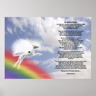 Whippet Dog Angel At Rainbow Bridge Poster