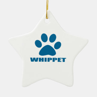 WHIPPET DOG DESIGNS CERAMIC ORNAMENT