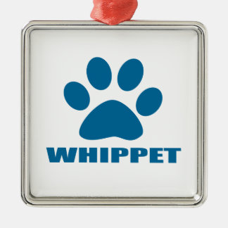 WHIPPET DOG DESIGNS METAL ORNAMENT
