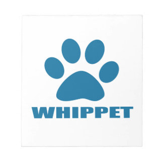 WHIPPET DOG DESIGNS NOTEPAD