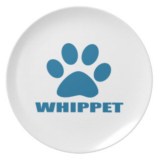WHIPPET DOG DESIGNS PLATE