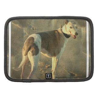 Whippet Dog  Wallet Folio Organizers