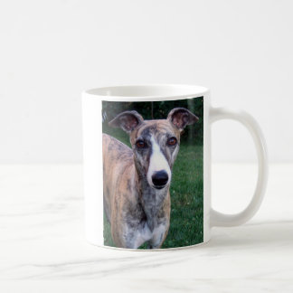 whippet face coffee mug