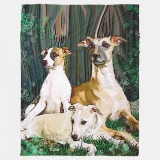Whippet Family Blanket