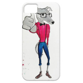 whippet hipster (thumbs up) iPhone 5 covers