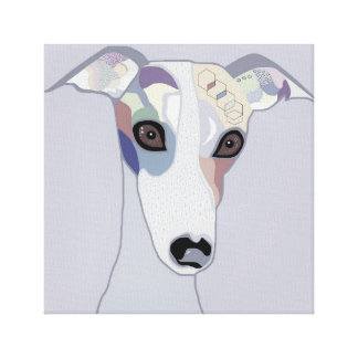 Whippet in Denim Colors Canvas Print