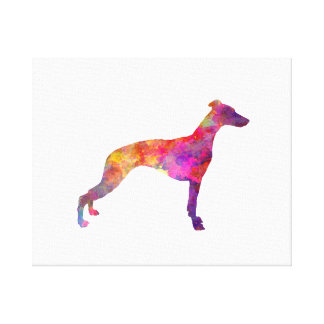 Whippet in watercolor canvas print