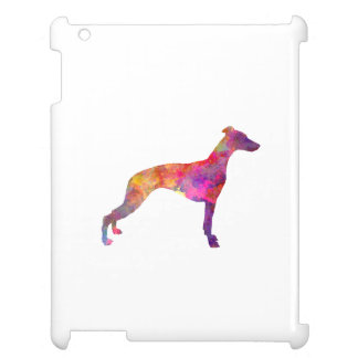 Whippet in watercolor cover for the iPad