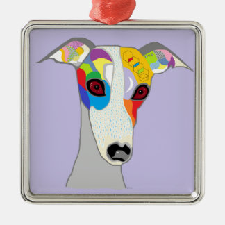 WHIPPET METAL ORNAMENT
