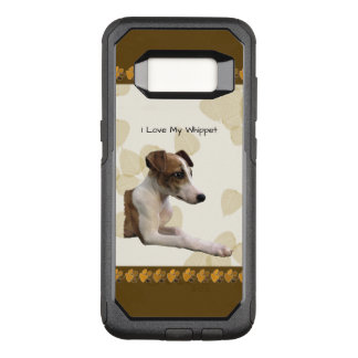 Whippet on Tan Leaves OtterBox Commuter Samsung Galaxy S8 Case