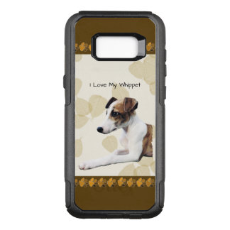 Whippet on Tan Leaves OtterBox Commuter Samsung Galaxy S8+ Case