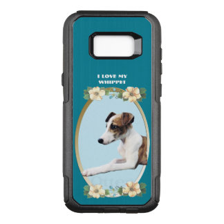 Whippet on Teal Floral OtterBox Commuter Samsung Galaxy S8+ Case