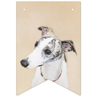 Whippet Painting - Cute Original Dog Art Bunting Flags