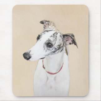 Whippet Painting - Cute Original Dog Art Mouse Pad