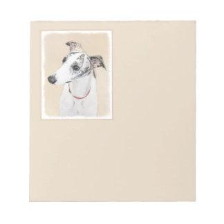 Whippet Painting - Cute Original Dog Art Notepad