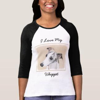 Whippet Painting - Cute Original Dog Art T-Shirt