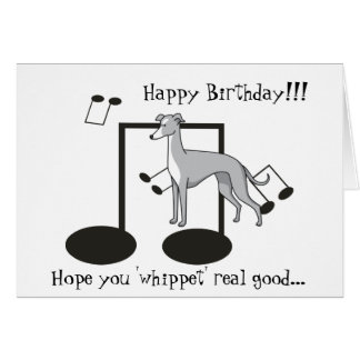Whippet Pun - Greeting Card