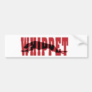 Whippet silhouette bumper sticker