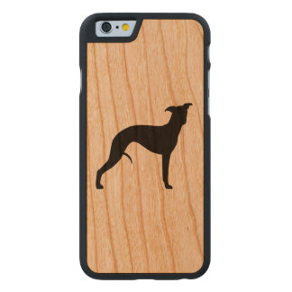 Whippet Silhouette Carved Cherry iPhone 6 Case