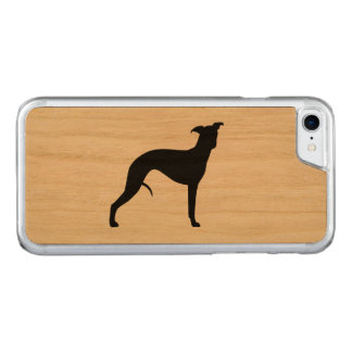 Whippet Silhouette Carved iPhone 7 Case