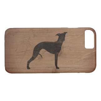 Whippet Silhouette Rustic iPhone 7 Case