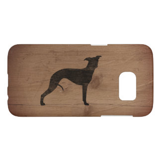 Whippet Silhouette Rustic Samsung Galaxy S7 Case