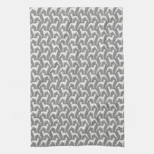 Whippet Silhouettes Pattern Towel