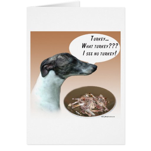 Whippet Turkey Card