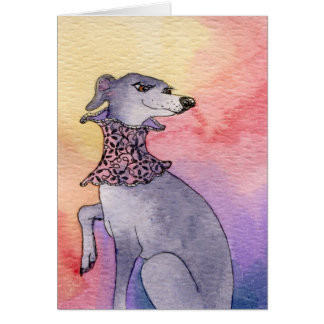 Whippet With Neck Lace CARD