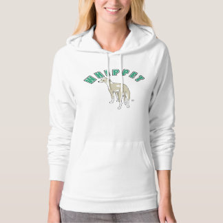 Whippet Women's Pullover Hoodie (White)