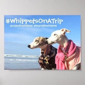 #WhippetsOnATrip 5x7 semi gloss Poster