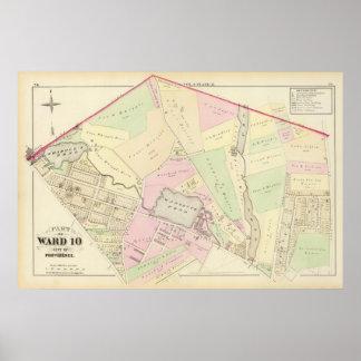 Whipple's Pond Geneva Mills Wanskuck Mil Atlas Map Poster