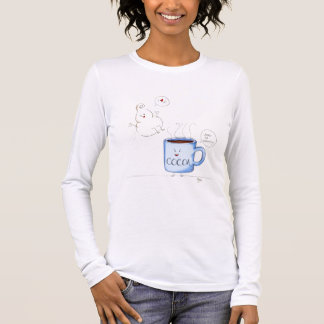 Whippy & Hot Cocoa Ladies Long Sleeved Tee