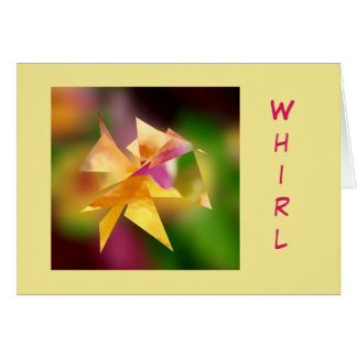 """Whirl"" Birthday Greeting Card"