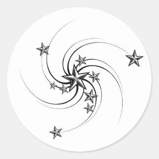 Whirled Nautical Stars Stickers