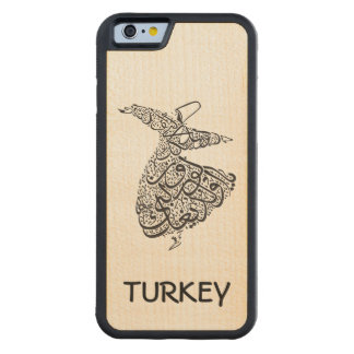 Whirling Dervish Carved Maple iPhone 6 Bumper Case