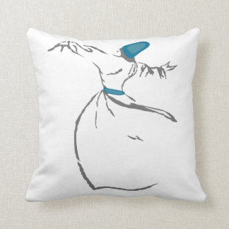 Whirling Dervish cushion - Turquoise