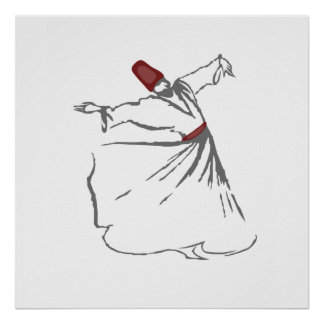 Whirling Dervish - Maroon Red Posters