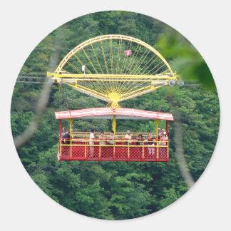 Whirlpool Aero Car: Niagara Falls Classic Round Sticker