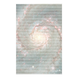 Whirlpool Galaxy With Lines Personalized Stationery