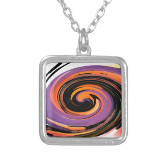 Whirlpool Silver Plated Necklace