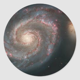 whirlpoolgalaxy classic round sticker