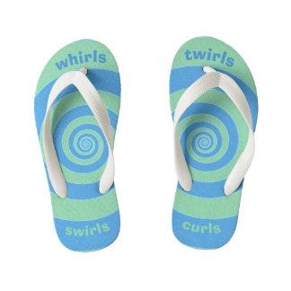 Whirls Swirls Twirls Curls Kid's Flip Flops