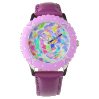 Whirlwind of colors inside a white watch! watch