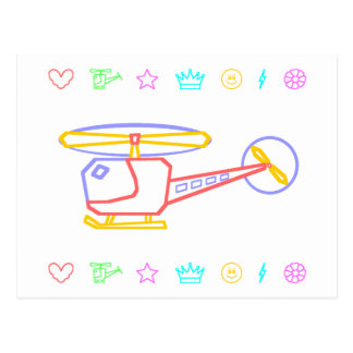 Whirly-Curly Helicopter Postcard