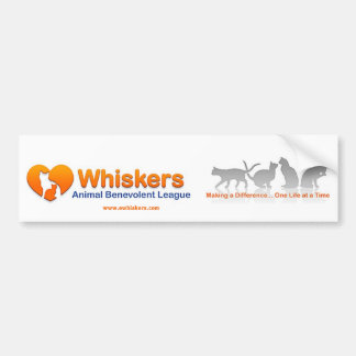 Whiskers bumper sticker